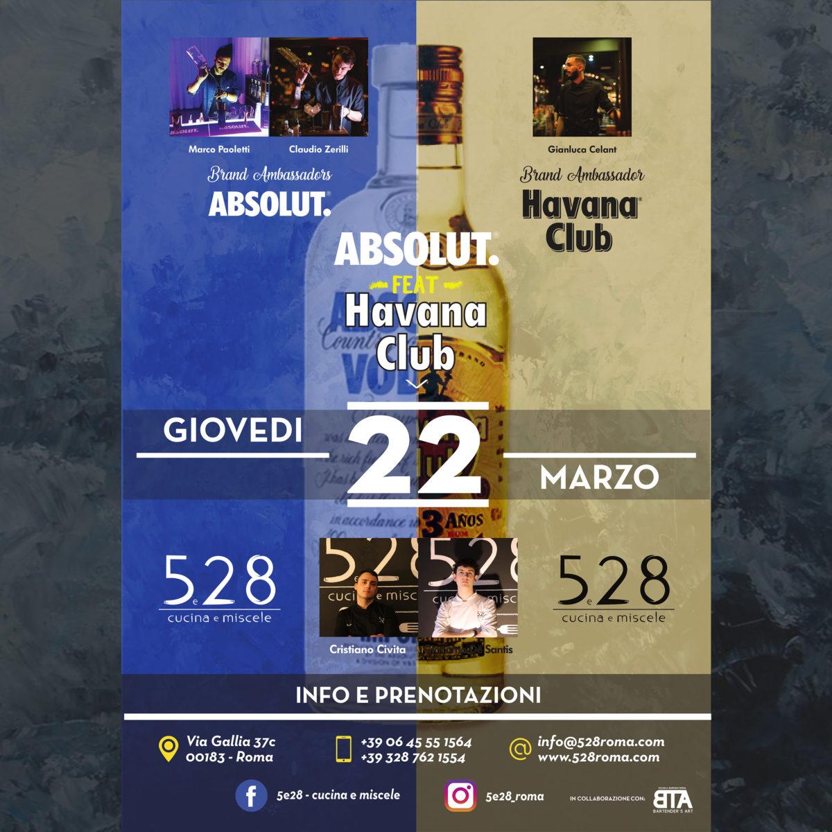 5e28 – Absolut feat Havana Club
